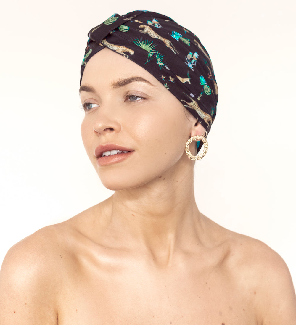 AMELIE shower cap in Dark Tropics