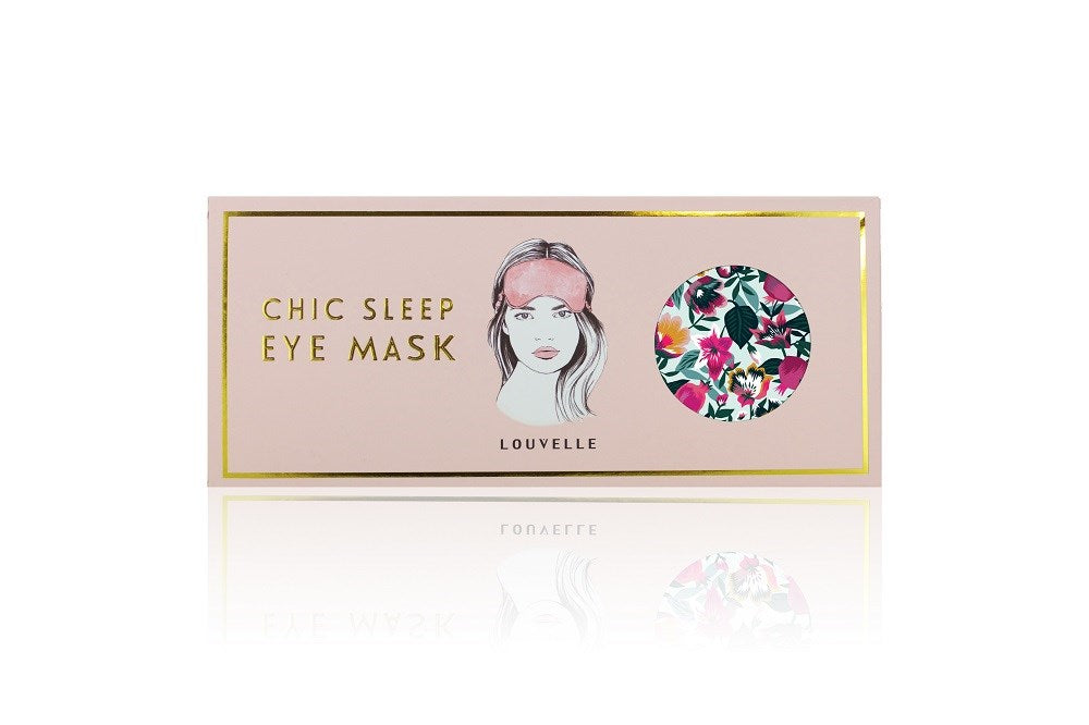 Chloe Eye Mask in Aqua Bloom