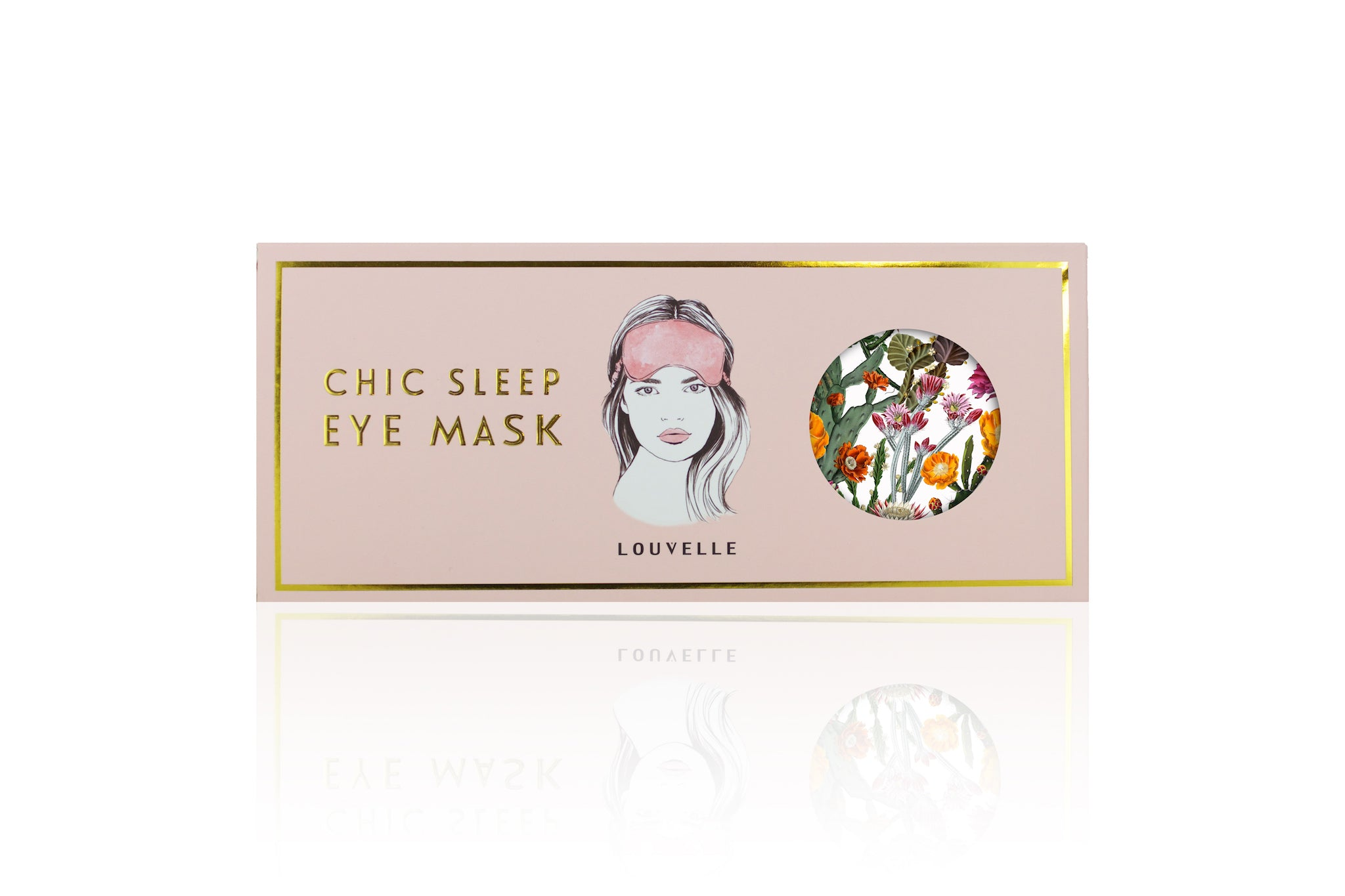 Chloe Eye Mask in Cactus Garden