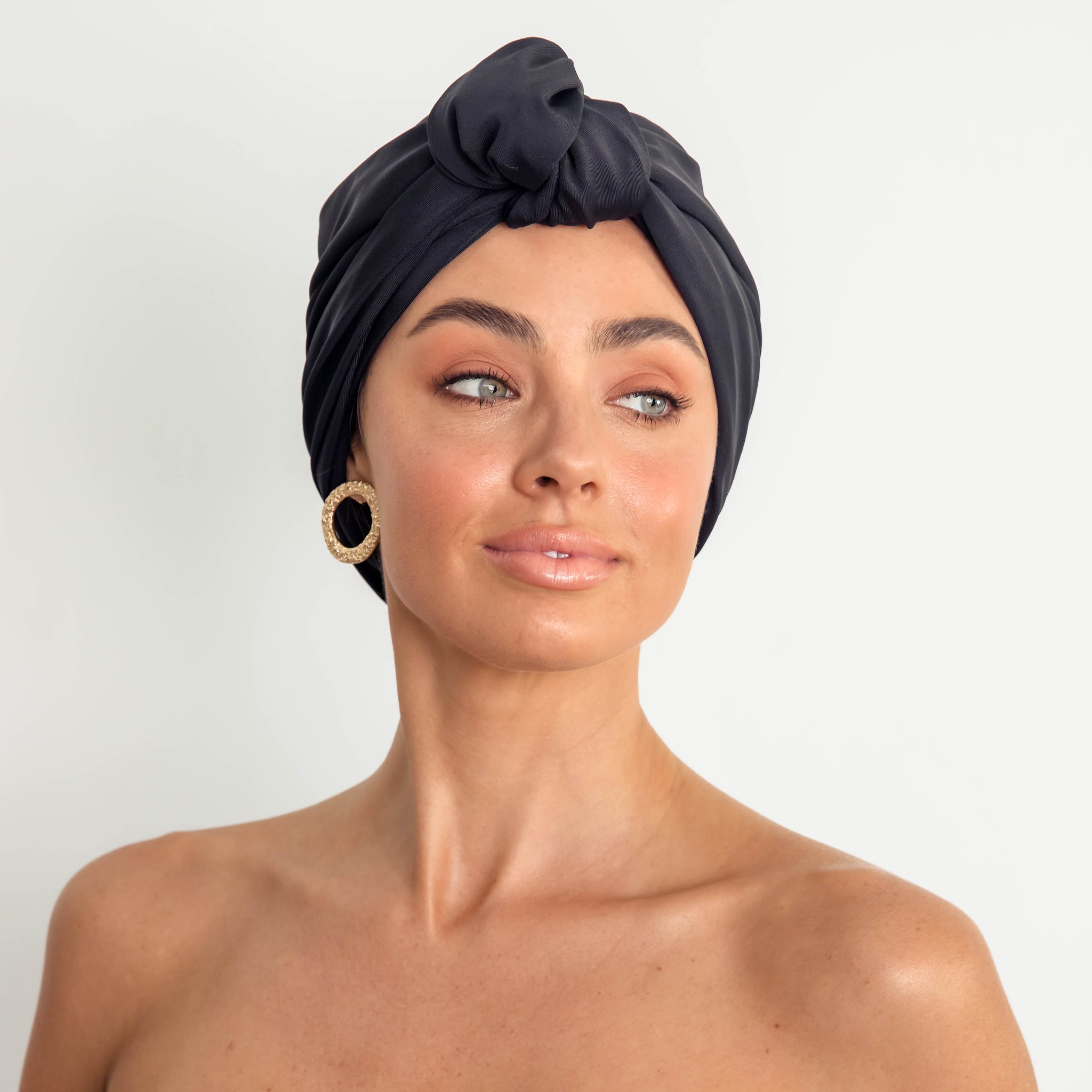 DAHLIA shower cap in Black