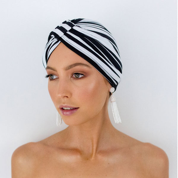 AMELIE shower cap in Monochrome Stripe