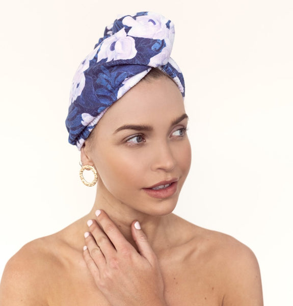 RIVA Hair Towel Wrap in Villa Camelia