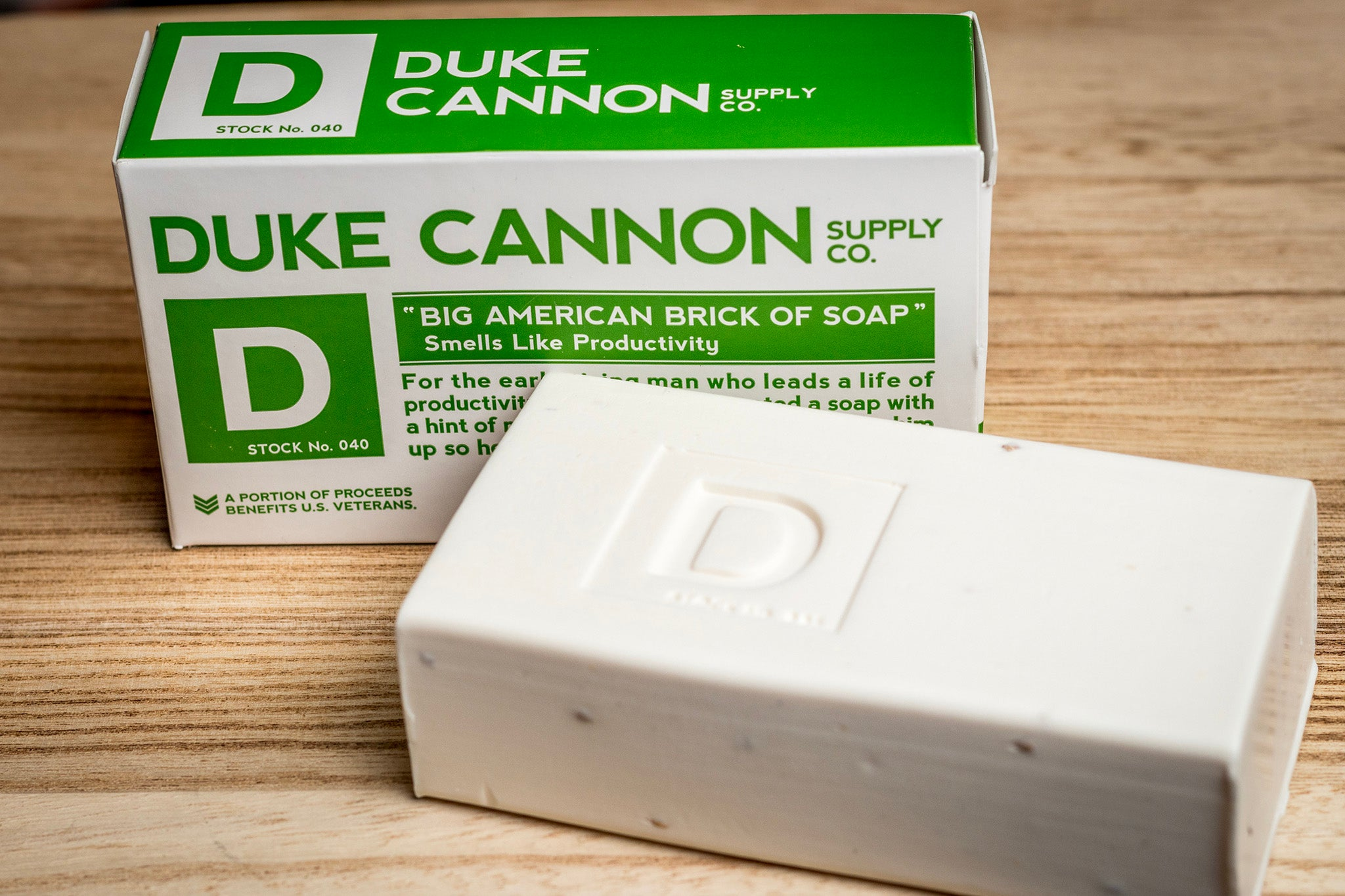 Duke Cannon Big American Brick of Soap. Productivity Scent.