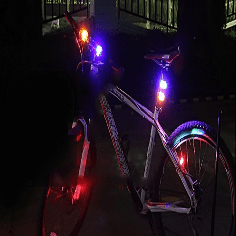 3-in-1 Bicycle Lamp Ensemble Red/Red/Red lamp