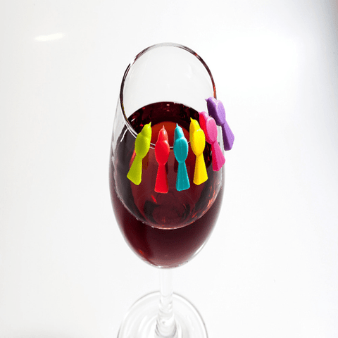 6-in-1 Wine Glass Markers Wine Glass Marker