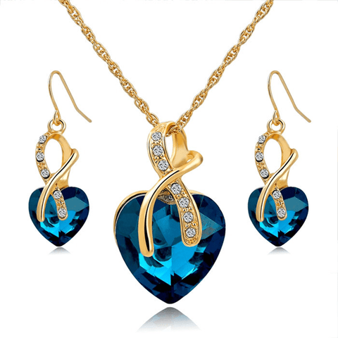 Blissful Desires Jewelry Set Blue Jewelry set