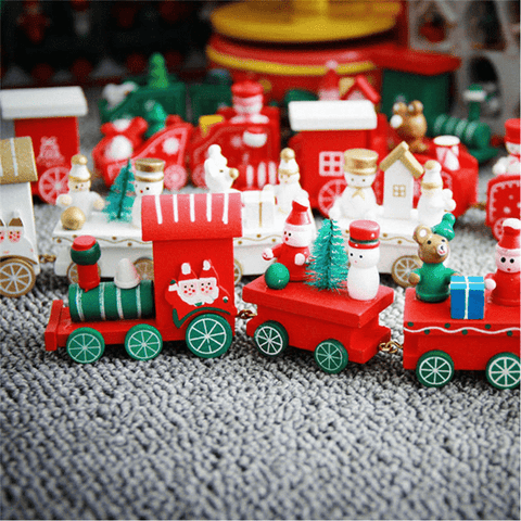 Choo Choo All Aboard! Xmas Toy Train Red toy train