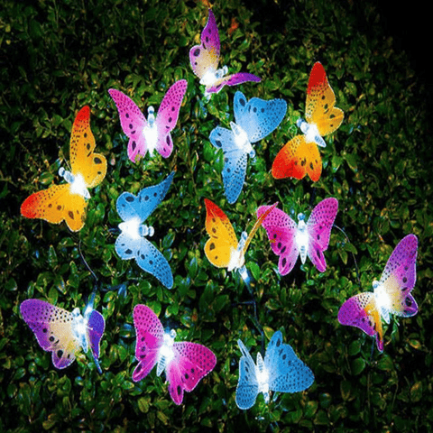 Glowing Butterflies Solar Garden Lamps (12 Pcs) lamp
