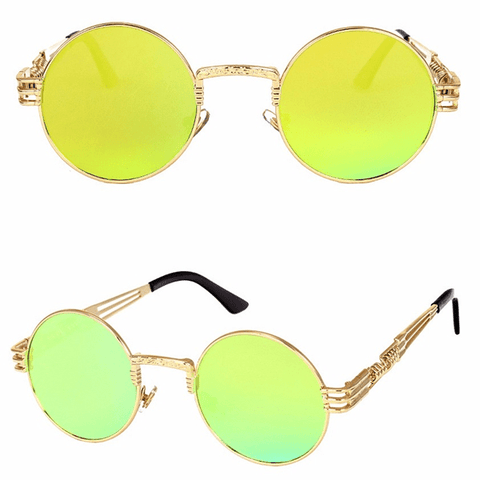 Hip Vision Sunglasses Gold Sunglasses