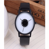 It's A Small World Quartz Watch Black & White Watch