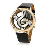 Musical Bliss Quartz Watch Black & Gold watch