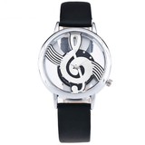 Musical Bliss Quartz Watch Black & Silver watch