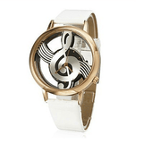 Musical Bliss Quartz Watch White & Gold watch