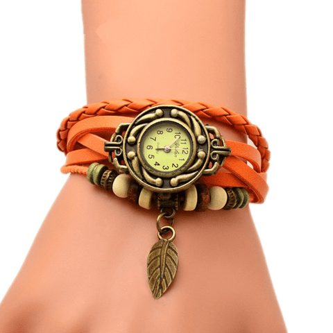 Royal Blessing Watch-Bracelet Light Brown Watch & Bracelet
