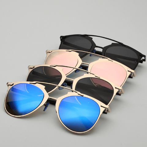 Shrouded Desires Women's Sunglasses Gold & Blue Sunglasses