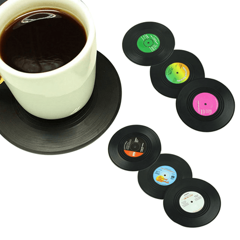 Sweet Ol' Records Coaster Set (6 Pcs) Drink Coaster