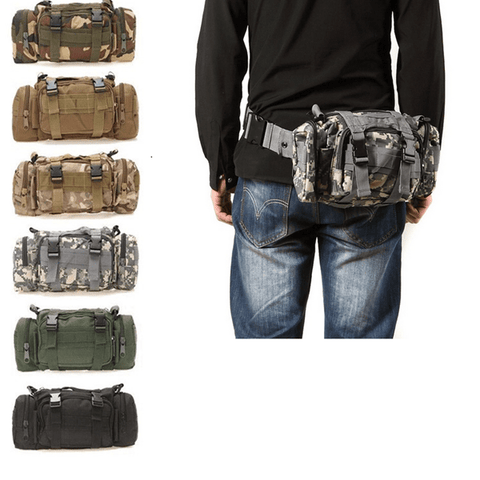 Tactical Waist Pouch Black Bag