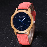 True Passion Wooden Quartz Watch Rose Red Watch
