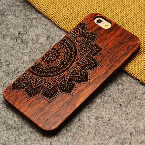 True Strength Wooden iPhone Case Half a Flower / iPhone 5 / iPhone 5S / iPhone SE iPhone Case