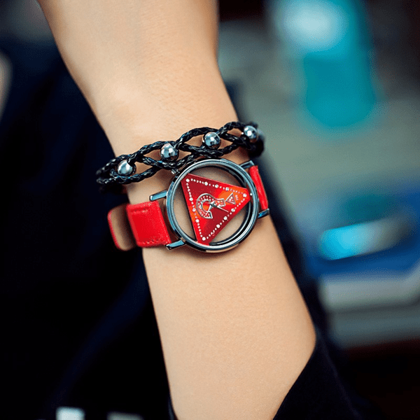 What Is Love? Womens Watch Red watch