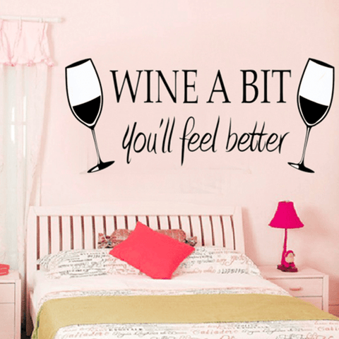Wine A Bit Wall Sticker Wall Sticker