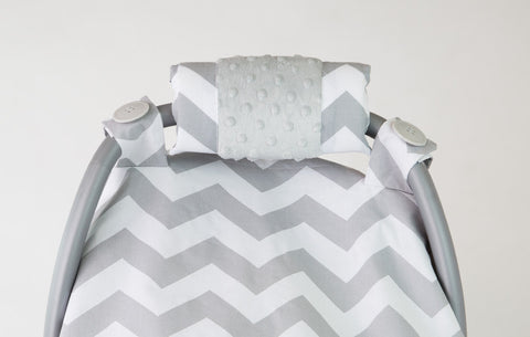 Chevy Minky Car Seat Canopy
