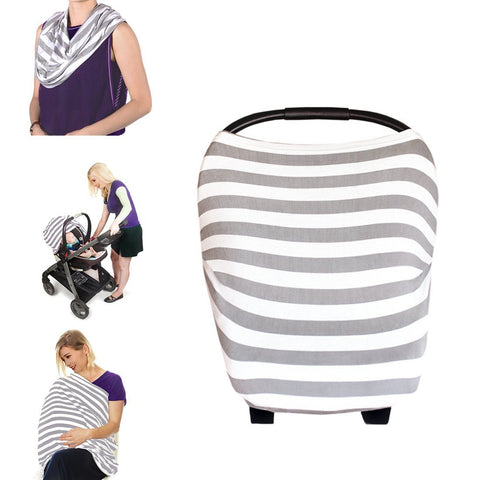Canopy Couture Car Seat Canopy and Nursing Cover Grey Stripes