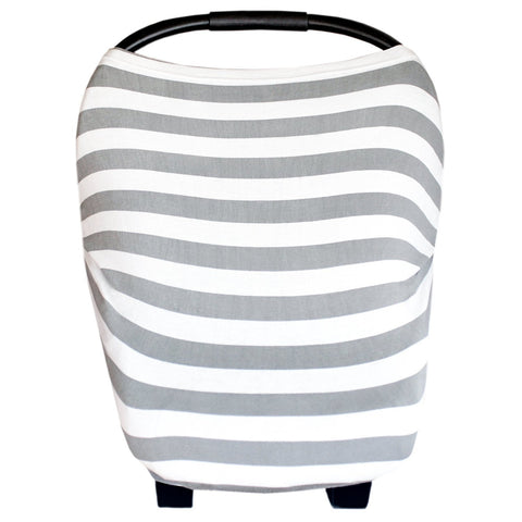 Carseat Sidekick™ , Canopy Couture Car Seat Canopy and Nursing Cover Grey Stripes