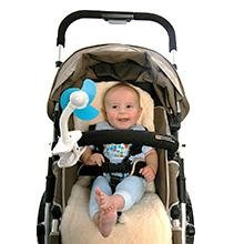 Carseat Sidekick™ , Dreambaby® Clip-On Stroller Fan in Silver/Black