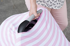 Canopy Couture Car Seat Canopy and Nursing Cover Pink Stripes