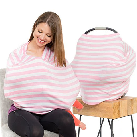 Carseat Sidekick™ , Canopy Couture Car Seat Canopy and Nursing Cover Pink Stripes