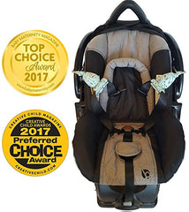 Carseat Sidekick™ - Holds Back Infant Car Seat Straps For A Stress Free Ride