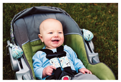 Carseat Sidekick™ Blue Arrows With Baby