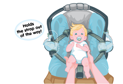 Carseat Sidekick™ Blue Arrows Cartoon