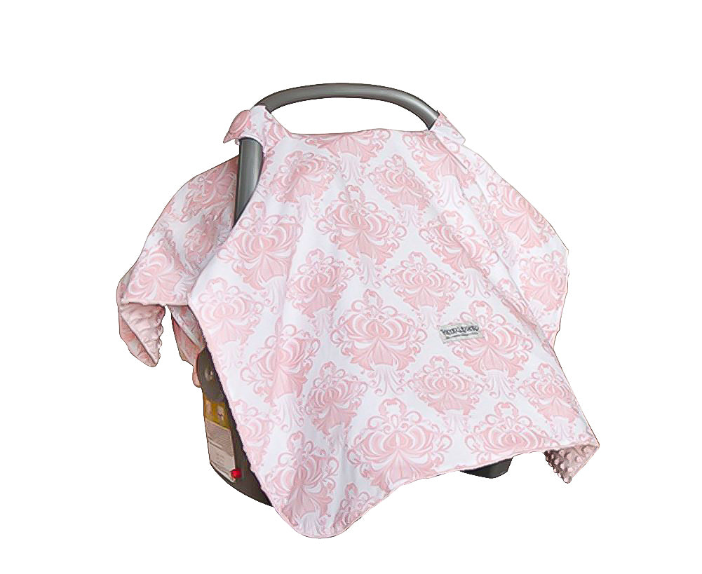 Angelina Minky Car Seat Canopy ...  sc 1 st  Carseat Sidekick & Angelina Minky Car Seat Canopy u2013 My Baby Sidekick
