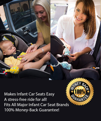 Yellow Carseat Sidekick Infant Car Seat Accessory Holds Back Straps