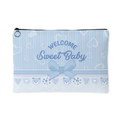 Welcome Sweet Baby Blue Bag Organizer Pouch