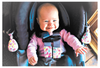 Image of Carseat Sidekick™ , Carseat Sidekick™ Pink Leaves