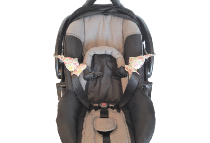 Carseat Sidekick™ Pink Leaves with Car Seat