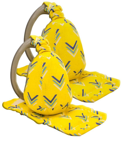 Carseat Sidekick™ Yellow Chevron Infant Car Seat Accessory Holds Back Straps