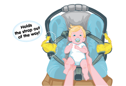 Carseat Sidekick™ Yellow Chevron Cartoon