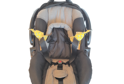 Carseat Sidekick™ Yellow Chevron With Car Seat