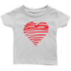 Image of Heart Baby Onsie and Infant T-Shirt