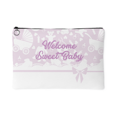 Welcome Sweet Baby Pink Organizer Pouch