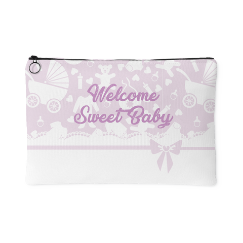 Carseat Sidekick™ , Welcome Sweet Baby Pink Organizer Pouch