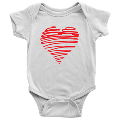 Heart Baby Onsie and Infant T-Shirt