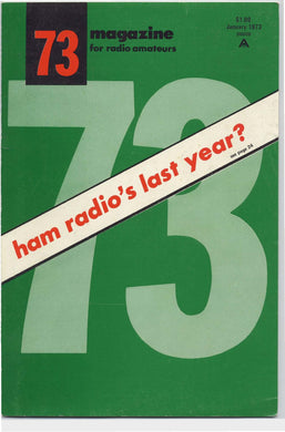 73 Amateur Radio Magazine 1973