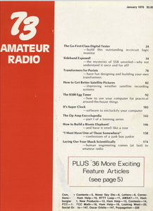 73 Amateur Radio Magazine 1978