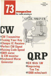 73 Amateur Radio Magazine 1972