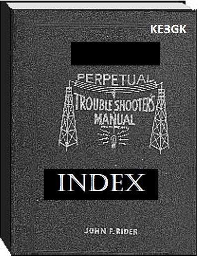 John F Riders Perpetual Troubleshooters INDEX for Volumes 16 thru 22